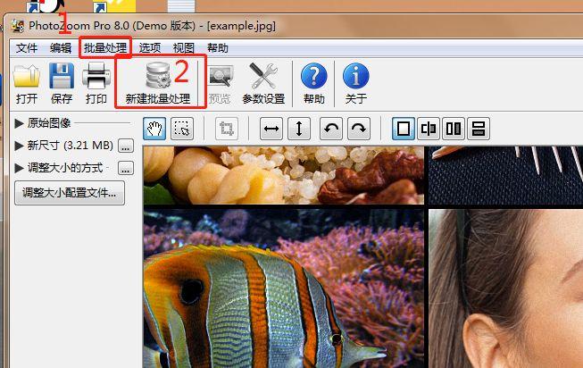 如何使用PhotoZoom批量更改图片尺寸