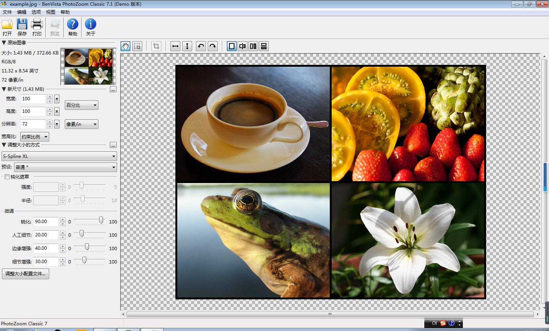 PhotoZoom Classic 7和PhotoZoom Pro 7版本对比
