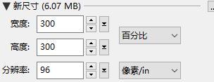PhotoZoom输入新尺寸