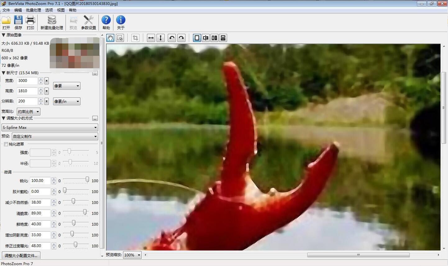 用PhotoZoom放大后的图,你能看出来这是什么吗?