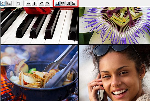 在PhotoZoom使用分屏预览实时对比原图和放大图