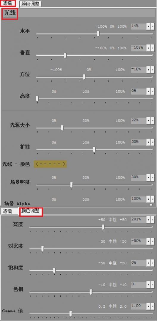 图5:参数调节