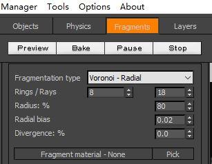 RayFire的Voronoi破碎法