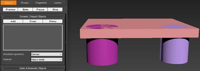 先用RayFire制作一个桥体模型