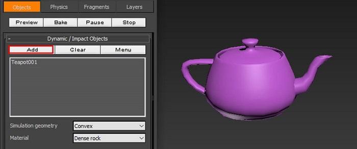 添加茶壶为动态对象