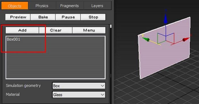 添加长方体为动态对象