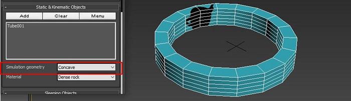 模拟凹面体