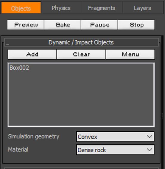 添加需要使用RayFire的模型