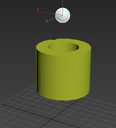 管状体和小球的模型