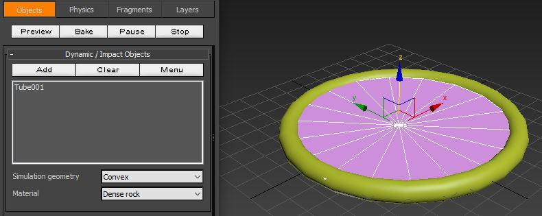 将圆柱体添加为动态对象