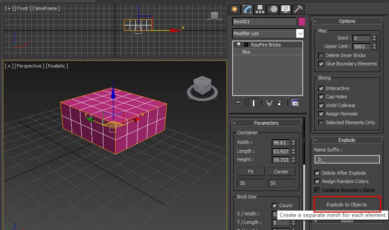 图9:形成砖块