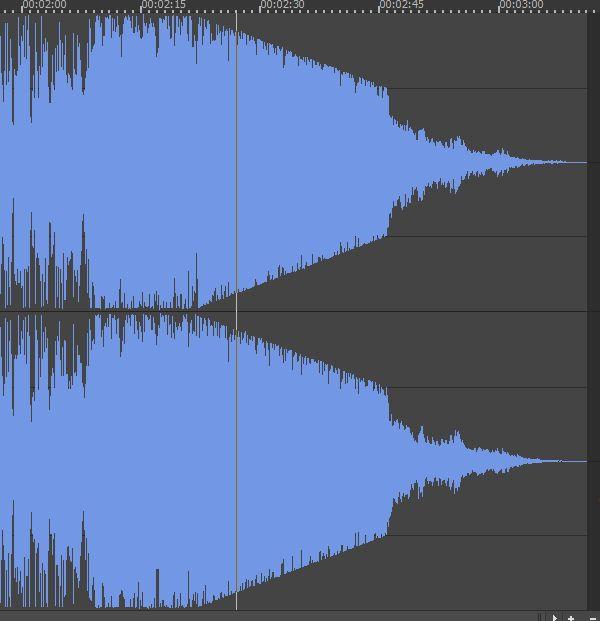 淡出音效波形效果界面