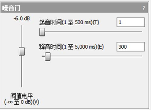 图6:噪音门手动调节功能