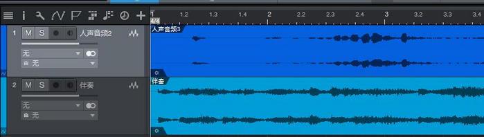 图1:人声音轨和伴奏音轨