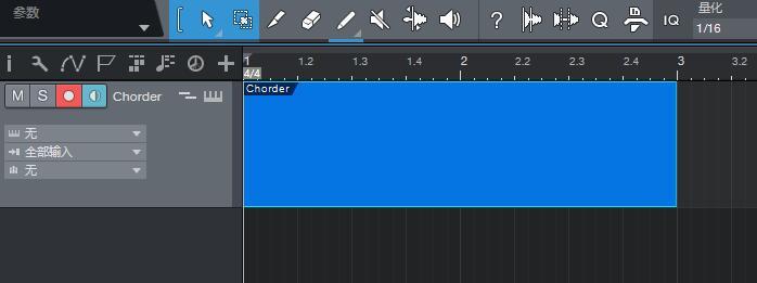 乐器音源文件拖选蓝框部分