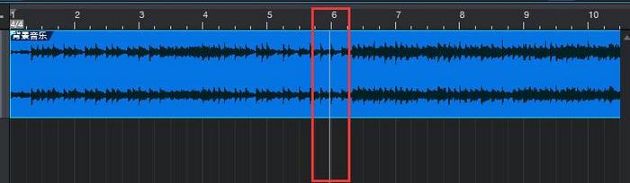图2:结束播放后播放指针停留在了第6小节