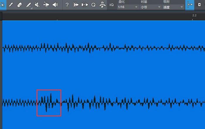 图3:放大Y轴之后的音频