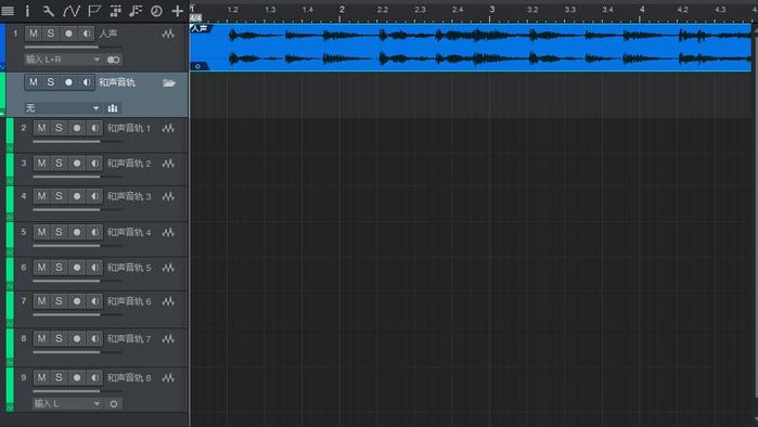 图3:和声音轨文件