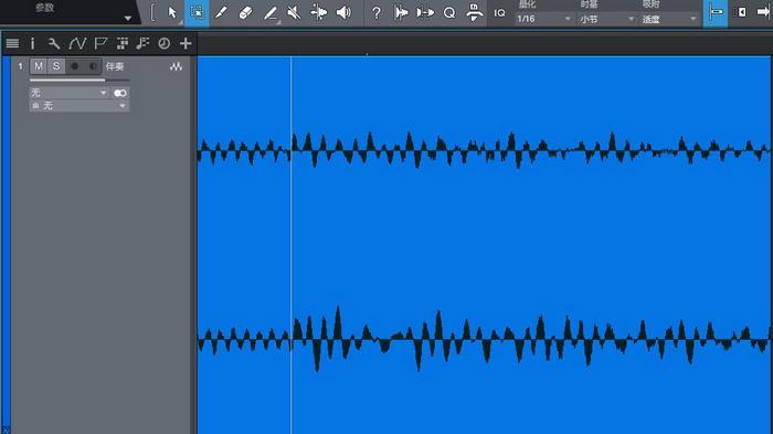图4:快速缩放之后的音频块
