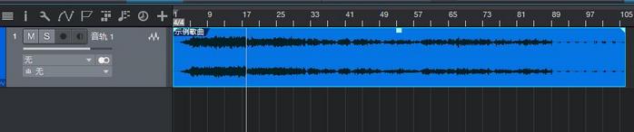 图6:反转操作之后的音频波形
