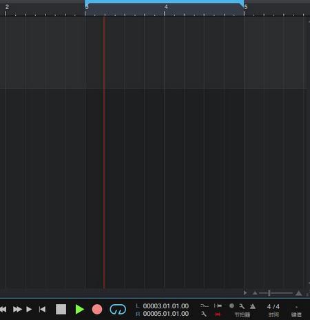 图9:分割线走至第3小节时会自动开始录音