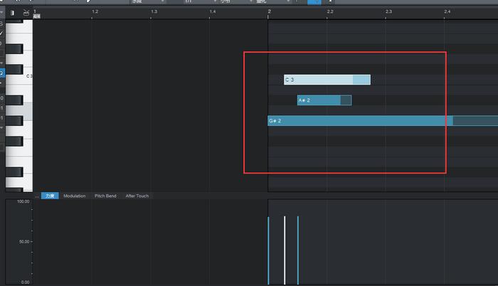 图1:创建MIDI音符