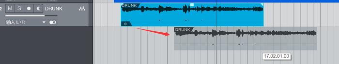 拖动音频过程