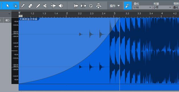 包络线制作淡入音效界面