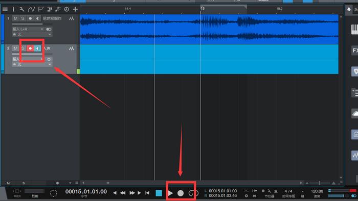 图3:开启穿插录音