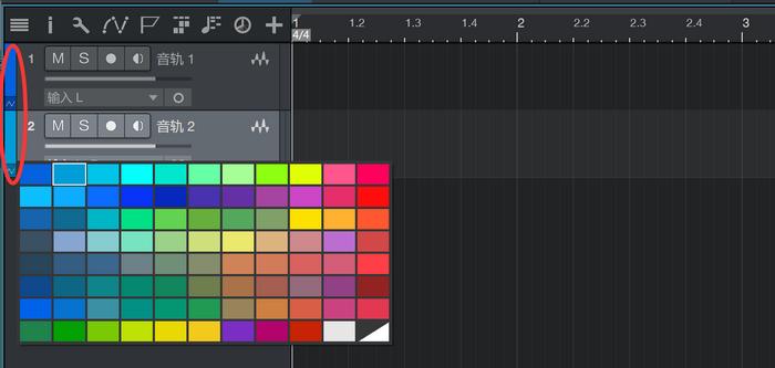 图3:选择颜色区分