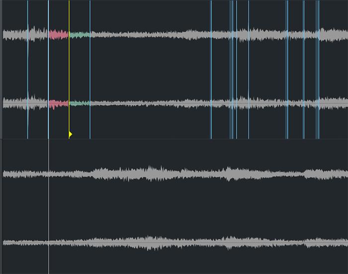 图4:拖动标记线以调整节奏