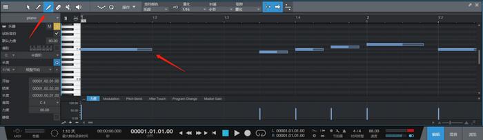 图6:Studio One描绘工具示意图