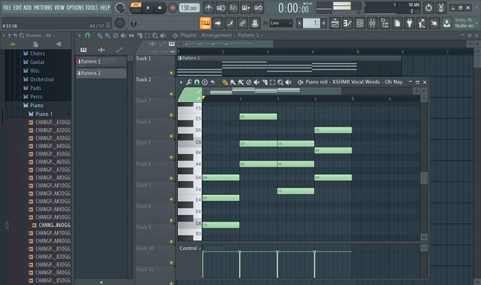 基础和弦效果界面