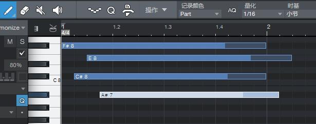 图2:编写的MIDI音符