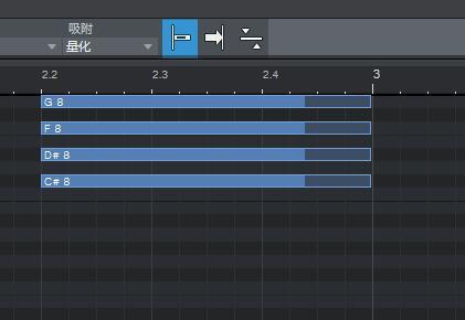 图6:MIDI音符对齐小节线