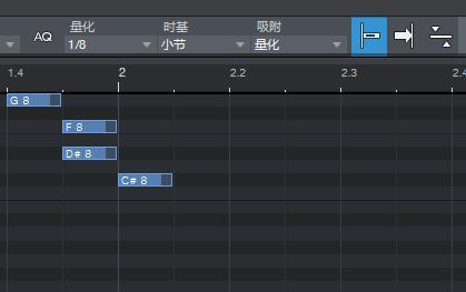 图9:1/8 MIDI音符