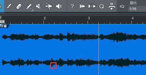 图1:想要编辑的音频块部分