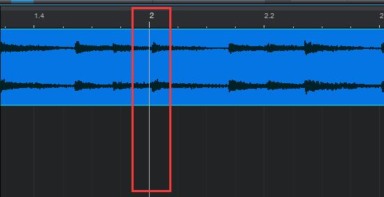 图1:音频对准第2小节