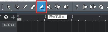 图7:描绘工具按钮