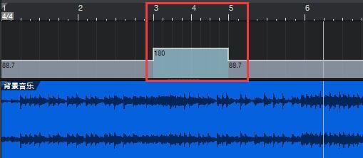 图9:调整之后的第3-5小节BPM