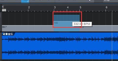 图10:对第3-5小节BPM进行第一步调整