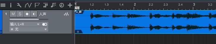 图1:人声音轨