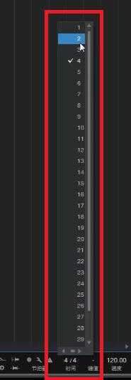 图4:修改四二拍的音乐节拍