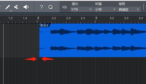 图2:移动后的音频
