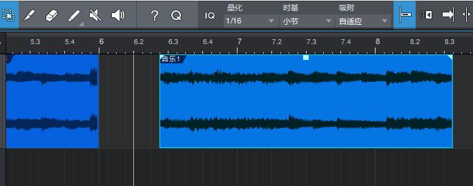 图1:两个音频块