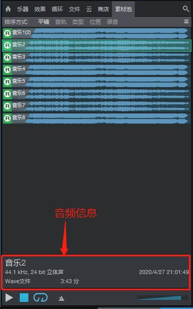 图2:查看音频信息