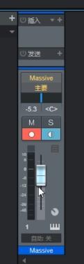图5:调音台上的音量推子