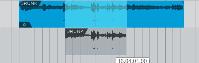 拖动拆分音频
