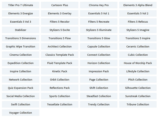 TotalFX涵盖的插件类型