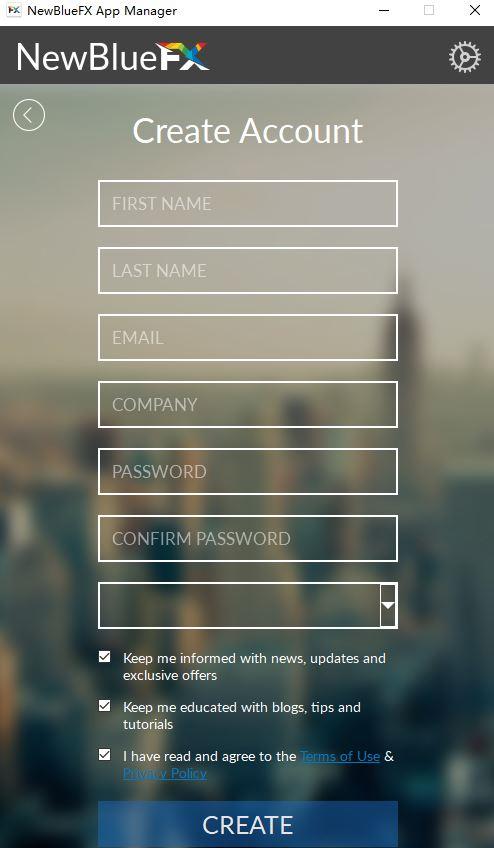 账号注册页面